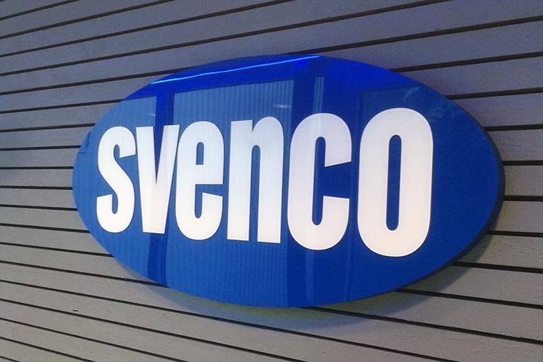 Skylt till Svenco